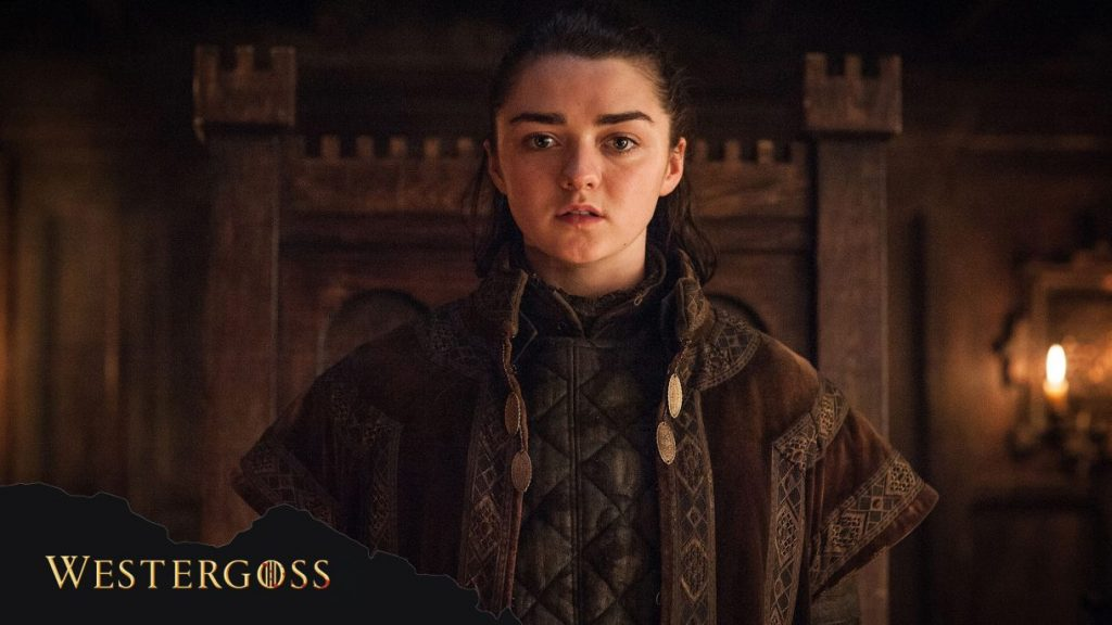 A still shot of Arya in Game of Thrones