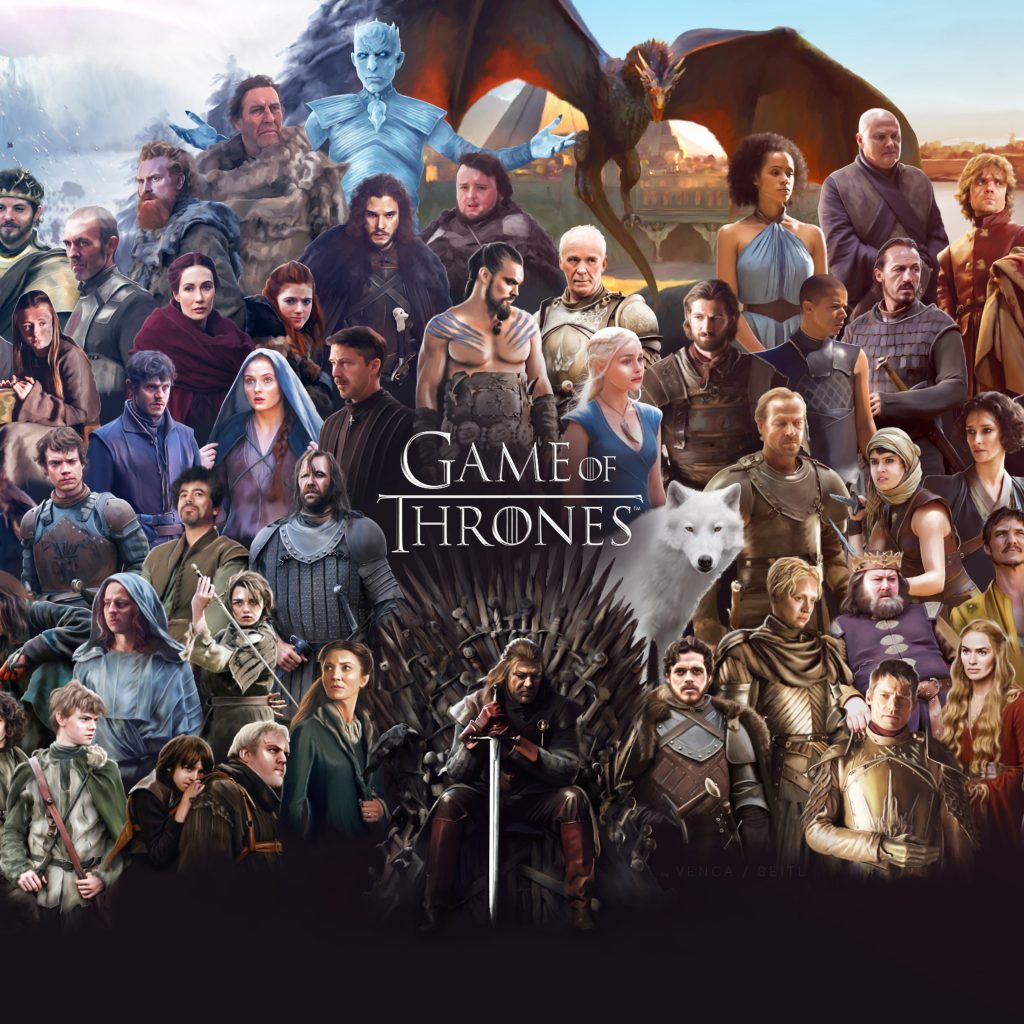 All of the cast members of Game of Thrones throughout the series