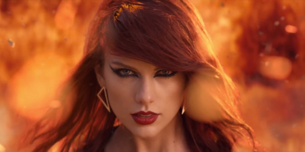 A still from the music video Bad Blood