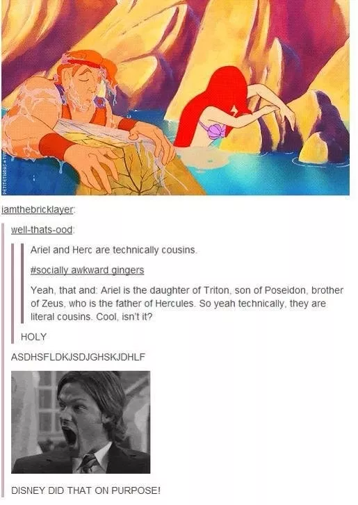 Hercules And Ariel Might ActuallyBe Cousins