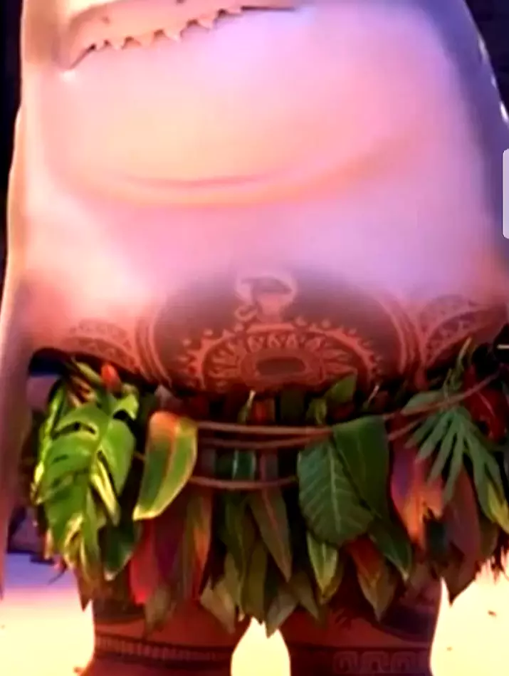 Maui's Check Tattoo Also Gets A Shark Head When He Turns Into A Shark