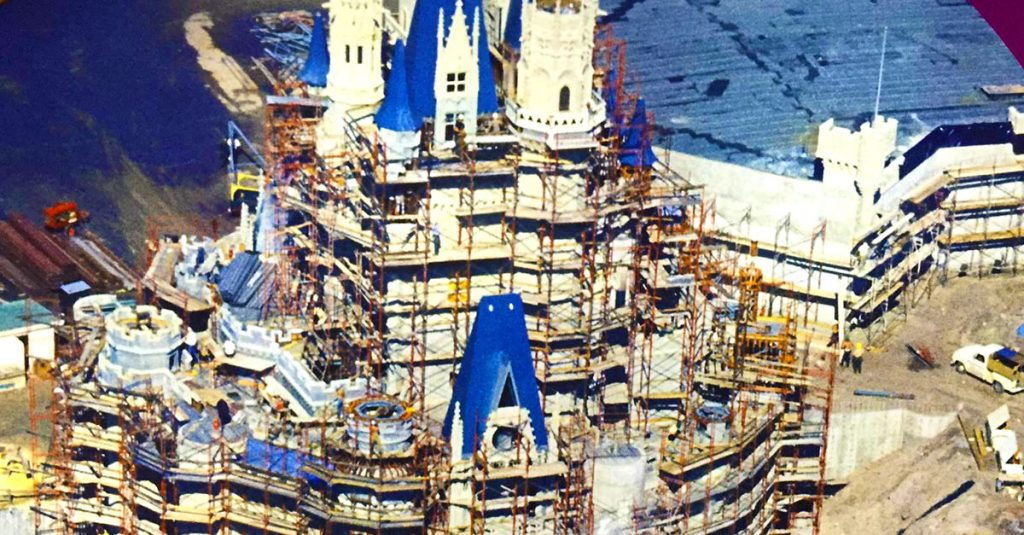 The Superstructure Underneath The Castle Is Made Of Steel