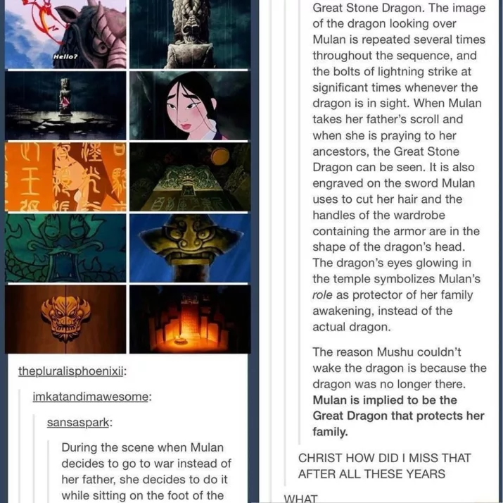 Mulan Is The Great Dragon! Who Knew