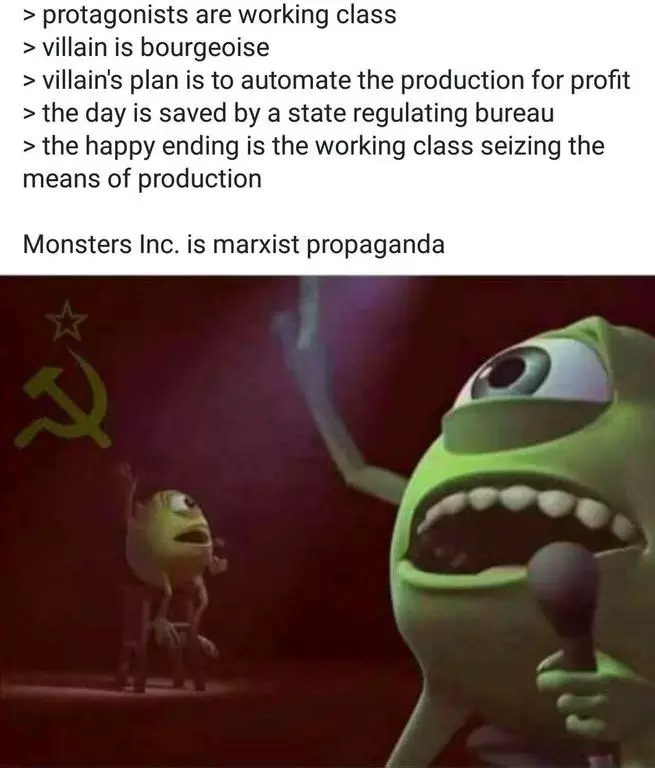 Monsters Inc Is Actually A Marxist Propaganda