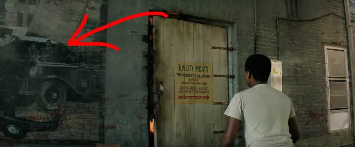 A Mural Of Bradley's Gangs Shoot Out Can Be Seen When Mike Has A Vision