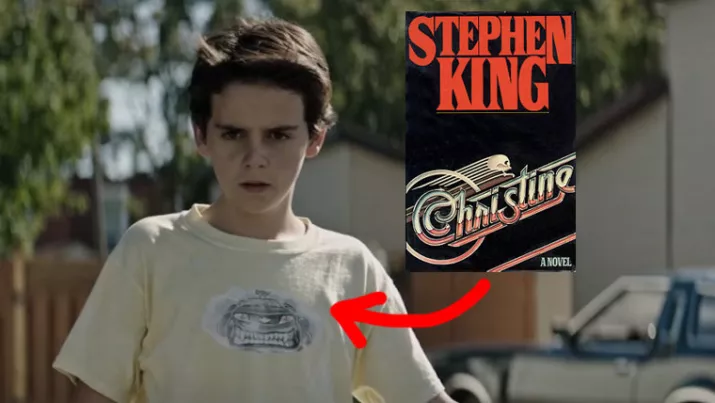 Eddie's Angry Faced Car ShirtReferences Another Stephen King Novel Turned Movie