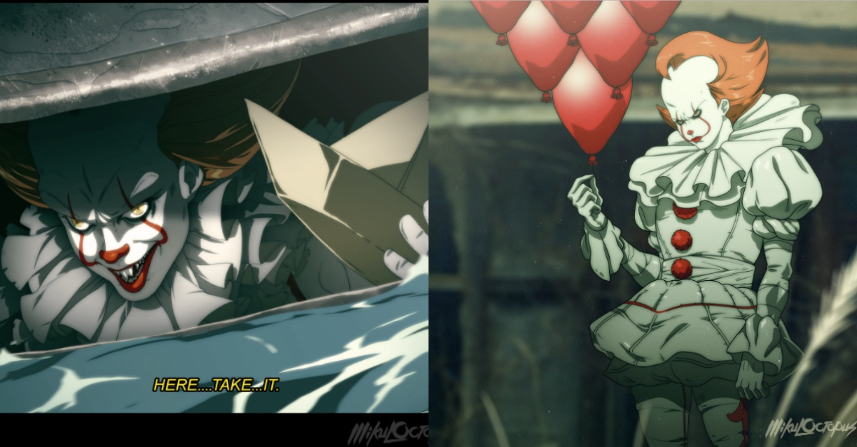 artist reimagined stephen king s it as anime it looks equally