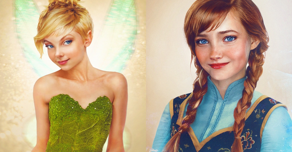 artist reimagined how famous disney characters would look like in
