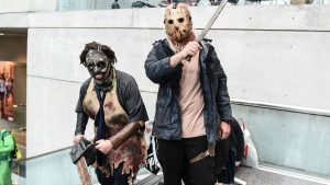 Leatherface and Jason Voorhees are in the same frame