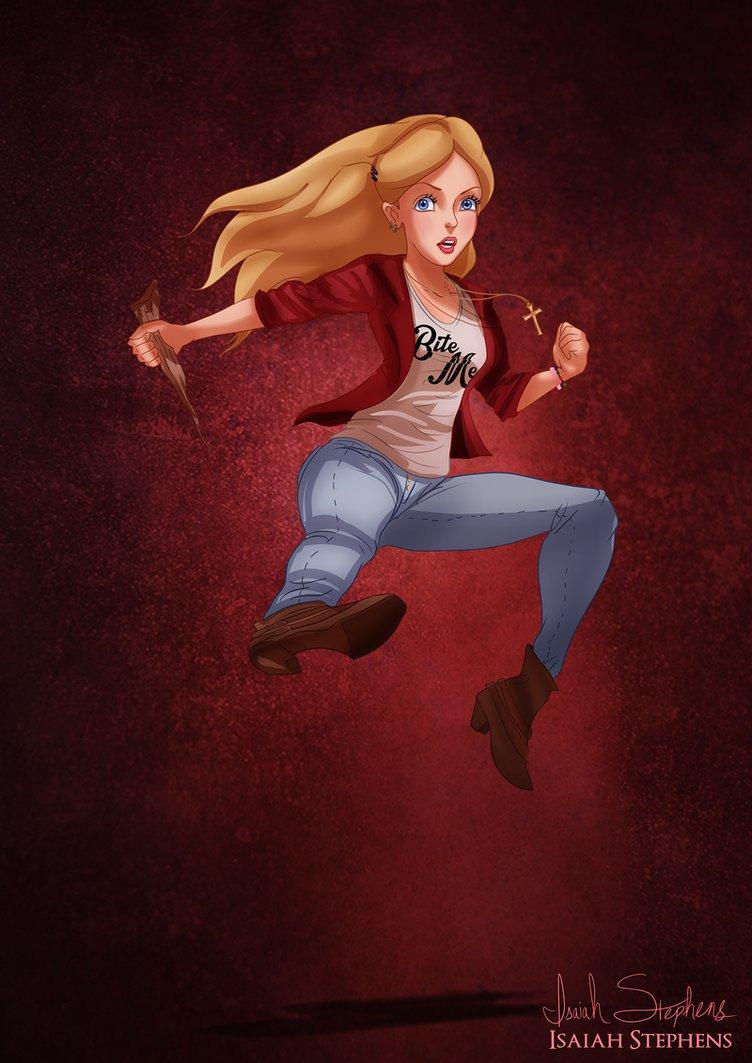 Alice as Buffy the Vampire Slayer