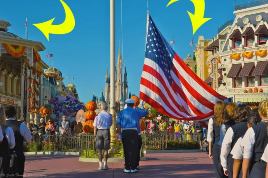 Most Of The Flags On Main Street USA Aren't Actually Real Flags