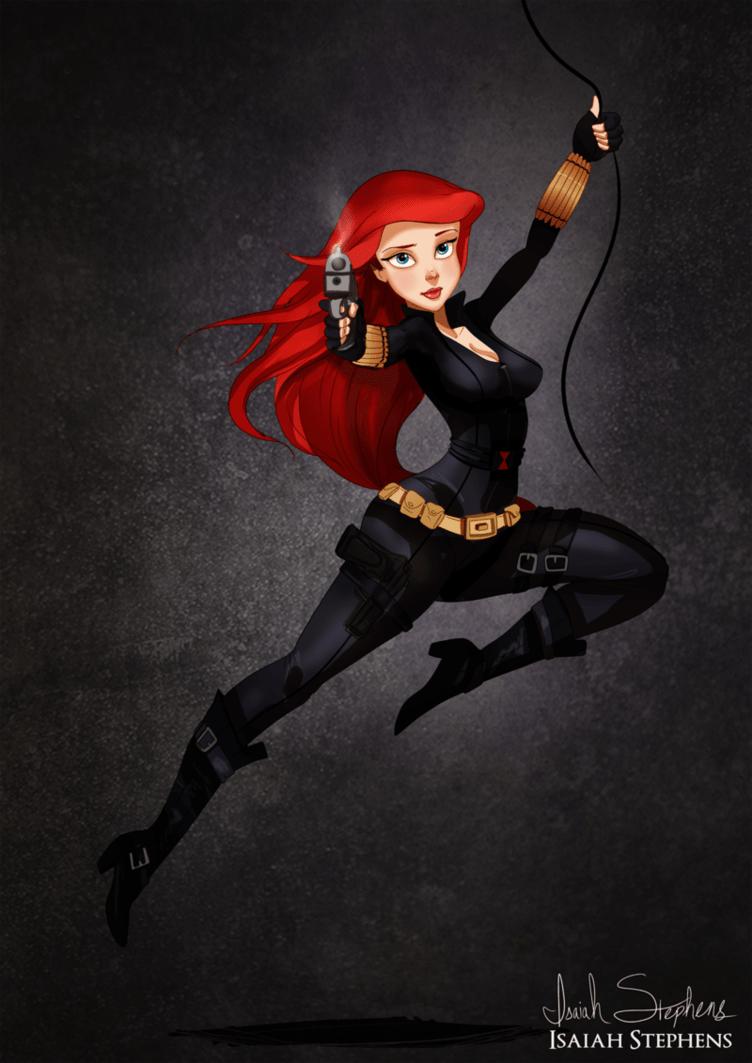 Ariel as Black Widow