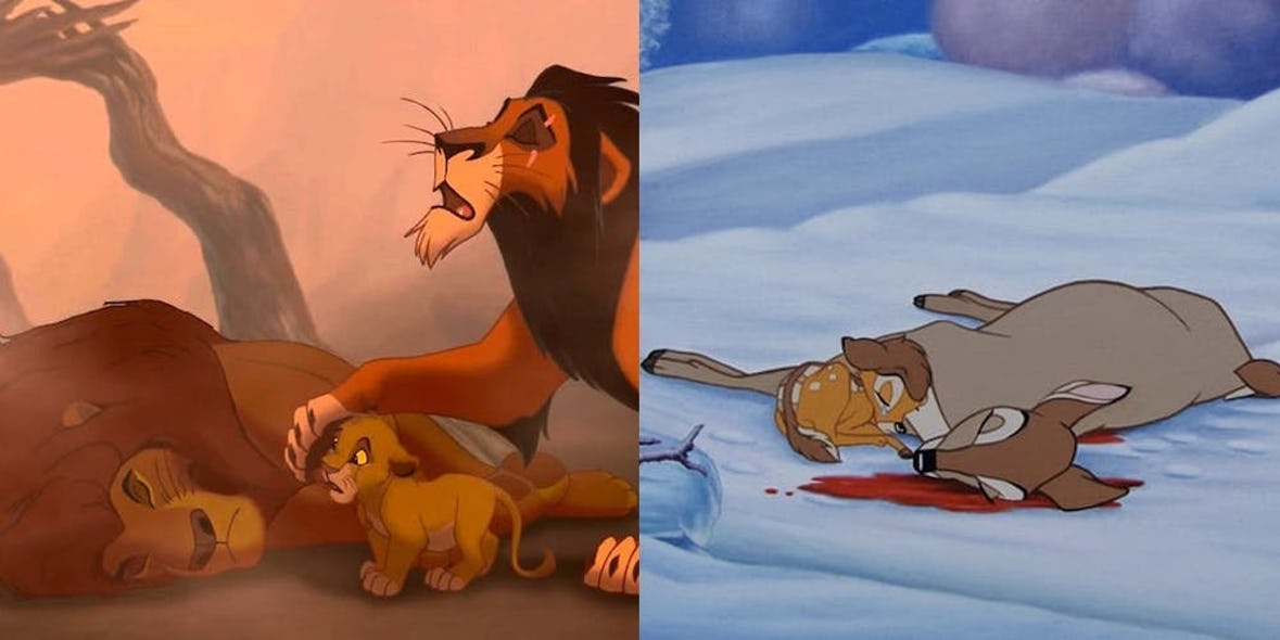 When Mufasa And Bambi's Mother Die