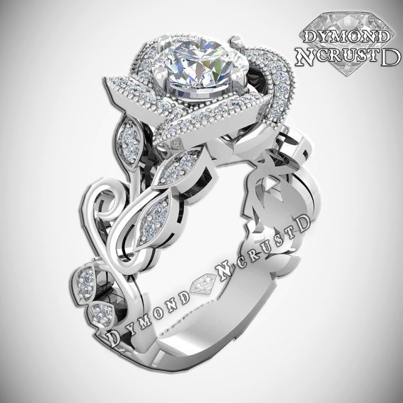 A Belle Inspired Ring Without The Intricate Rose Encrusted With Diamonds