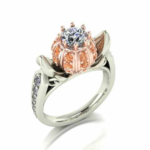 This White And Orange Diamond Encrusted Ring Is Obviously Inspired By Cinderella