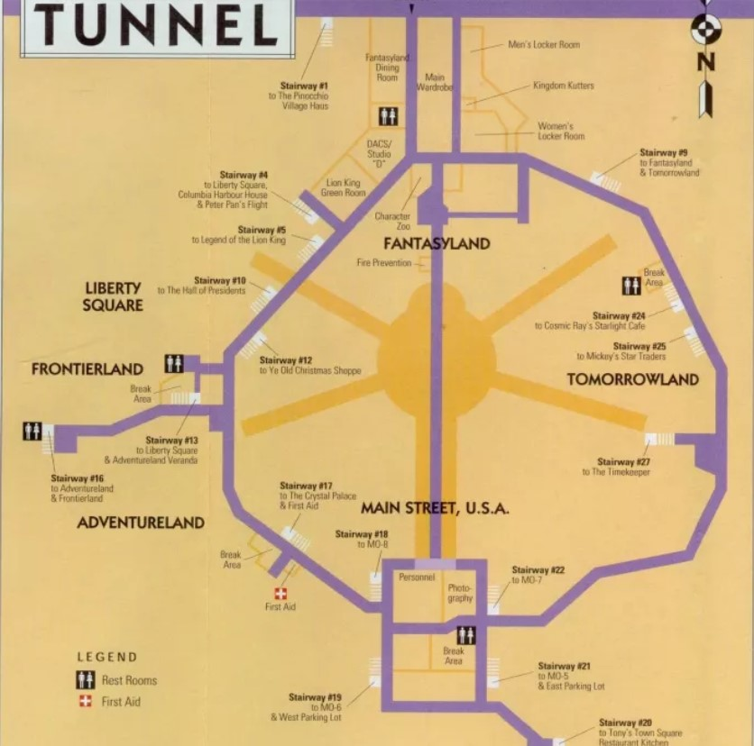 Most Disney Parks Have Underground Tunnels For Maintenance