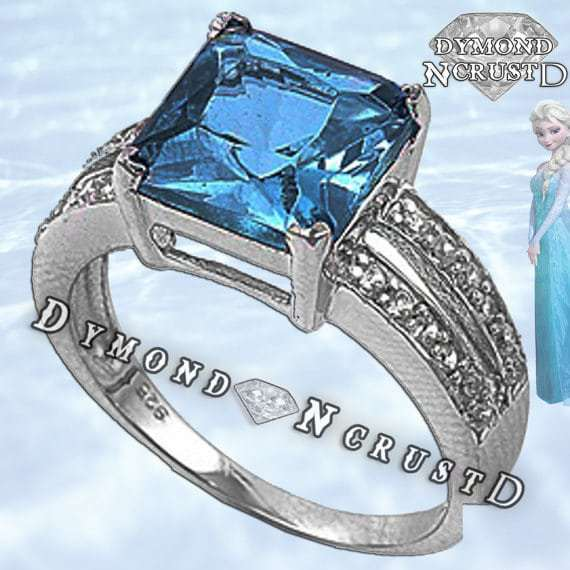 This Icy Stone Encrusted Elsa Inspired Ring