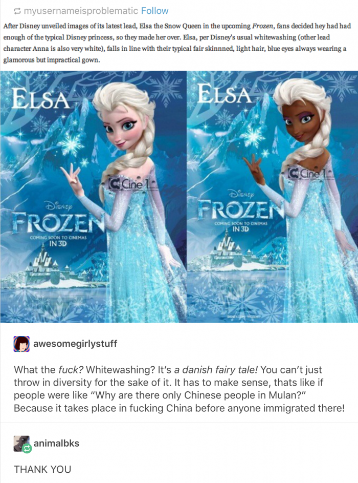 Because Of Elsa Being White, People Took It Upon Themselves To Change Her