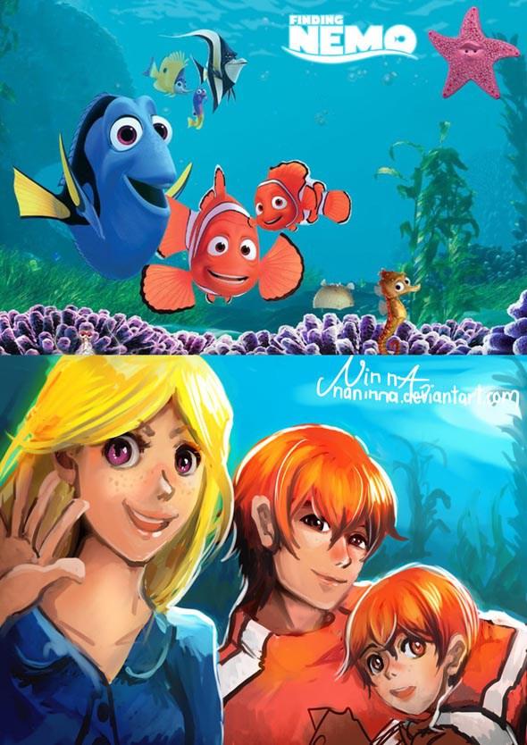Dory, Marlin, And Nemo