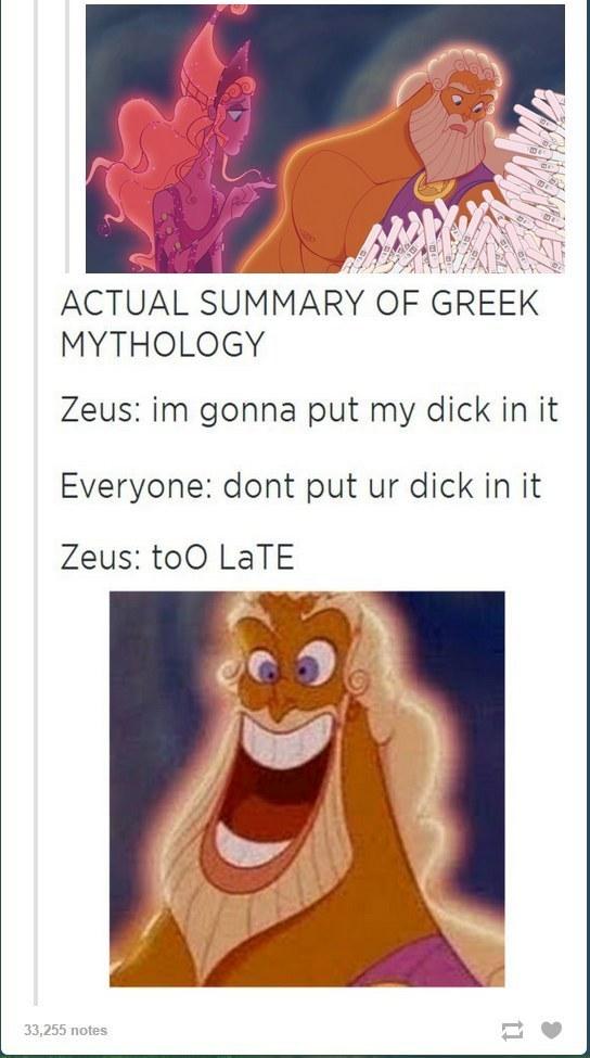 The Summary Of Greek Mythology