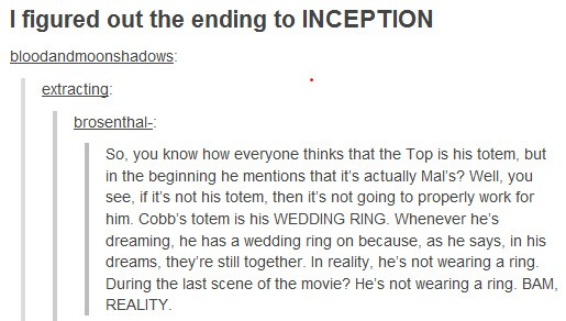 The Ending To Inception Is Finally Realized