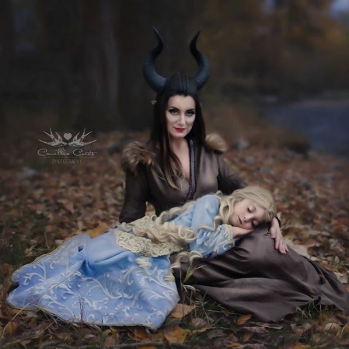 Maleficent And Princess Aurora