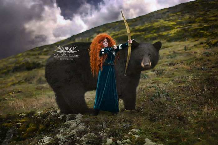 Merida And Her Mother From Brave