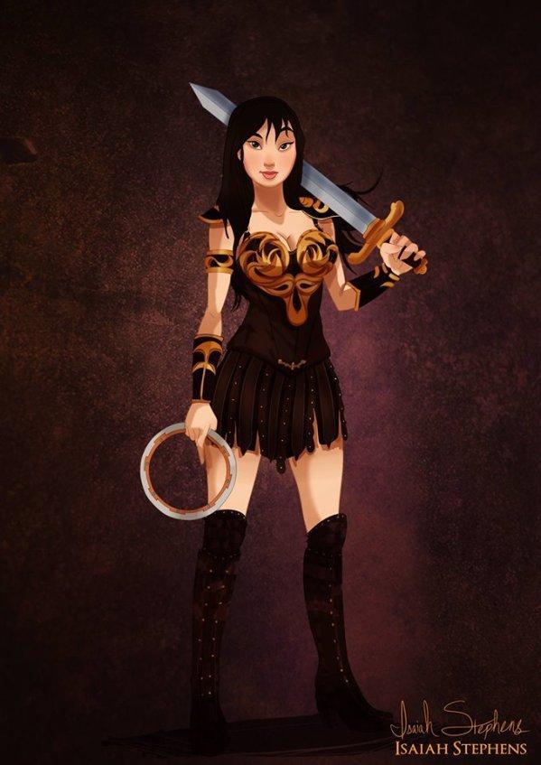 Mulan as Xena Warrior Princess