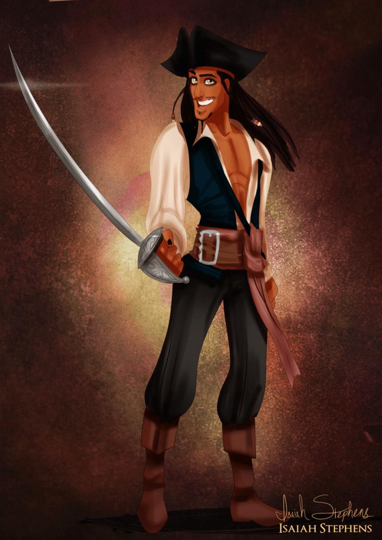 Prince Naveen as Captain Jack Sparrow