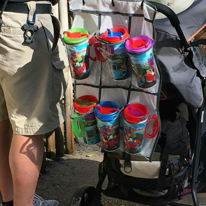 Put an organizer in your stroller for drinks