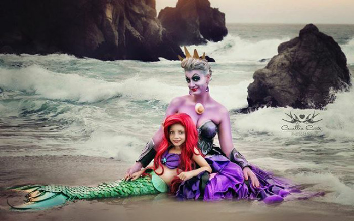 Ursula And Ariel From The Little Mermaid
