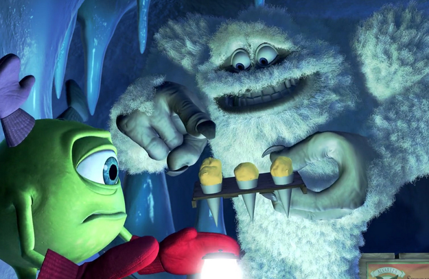 The Yellow Snow Cones From Monsters Inc