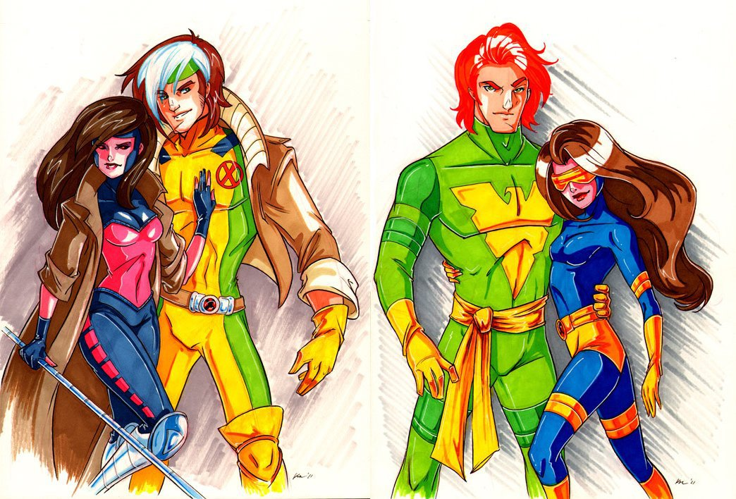 Genderbent X-Men Couples