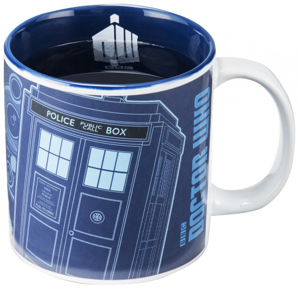 And why not a cup of Doctor Who? which reacts with the heat