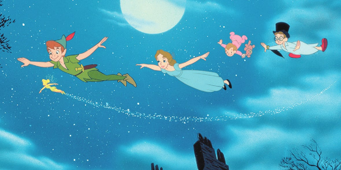 Peter Pan is a figment of Wendy's imagination