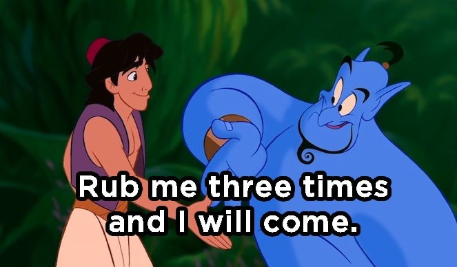 What Did Genie Say to Aladdin