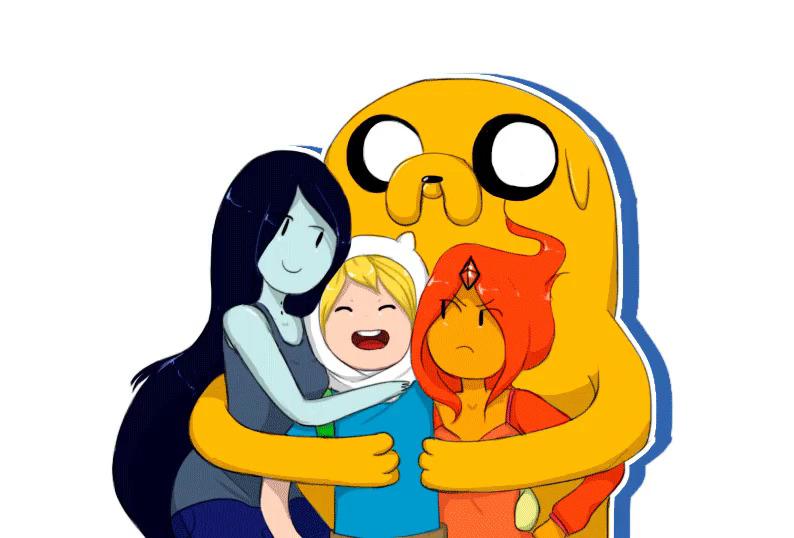 Finn and Marceline Grown Up