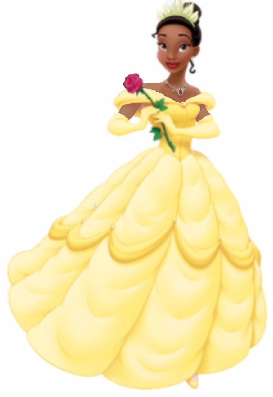 Tiana in Belle's Dress