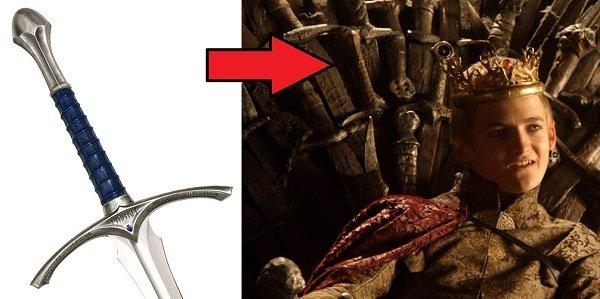 Gandalf's Sword is Hidden in The Iron Throne