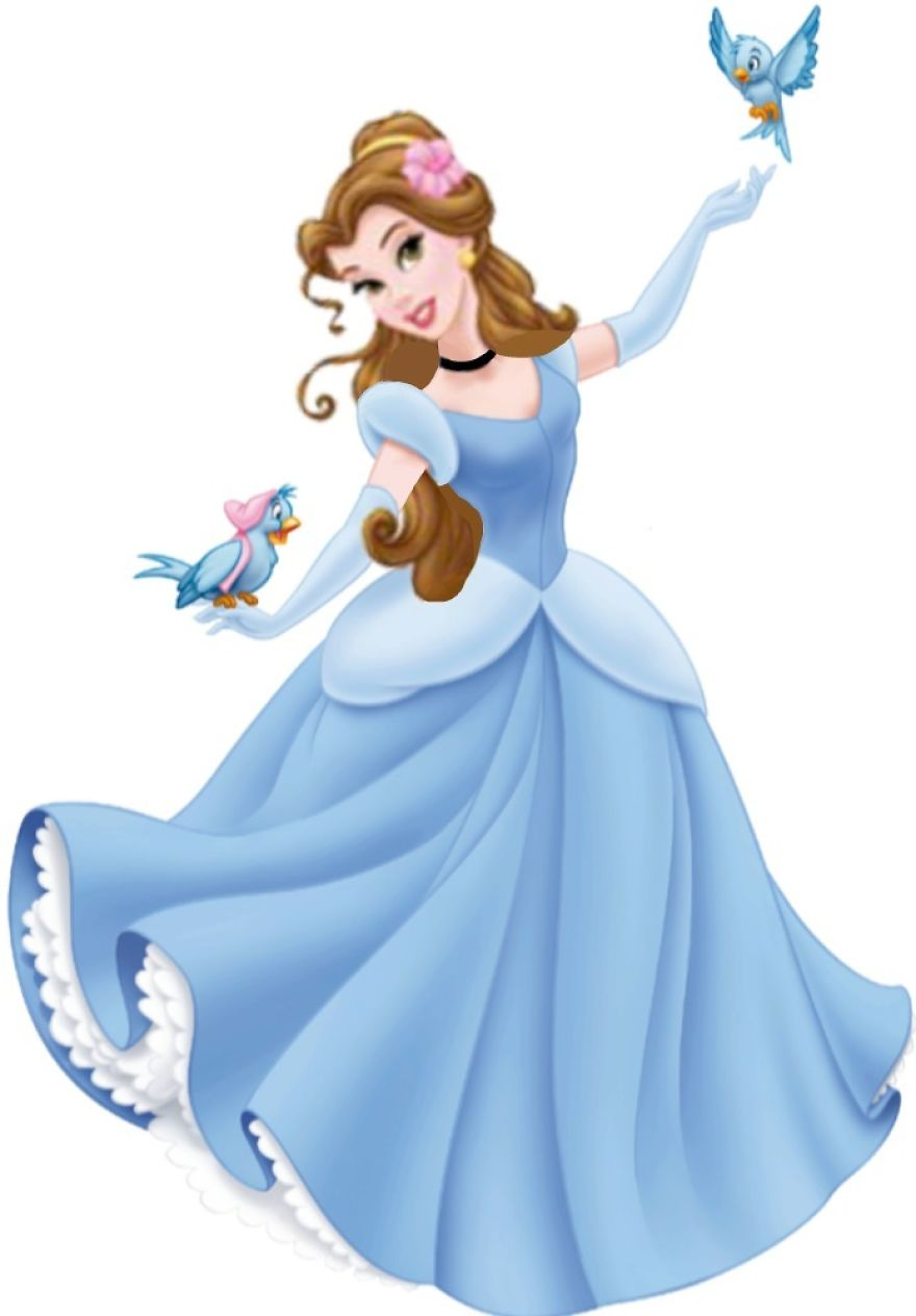 Belle in Cinderella's Dress