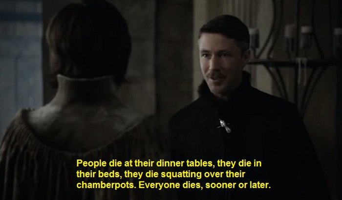 Littlefinger Predicts All The Major Deaths of Season 4 in One Sentence