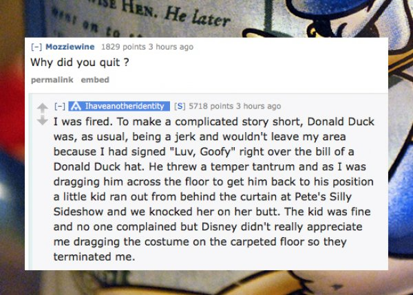 Jerk Donald duck