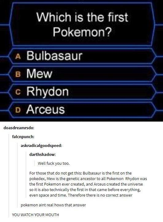 Of course, Pokemon is real