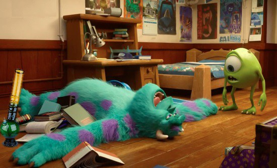 Sully is a stoner at the Monster U