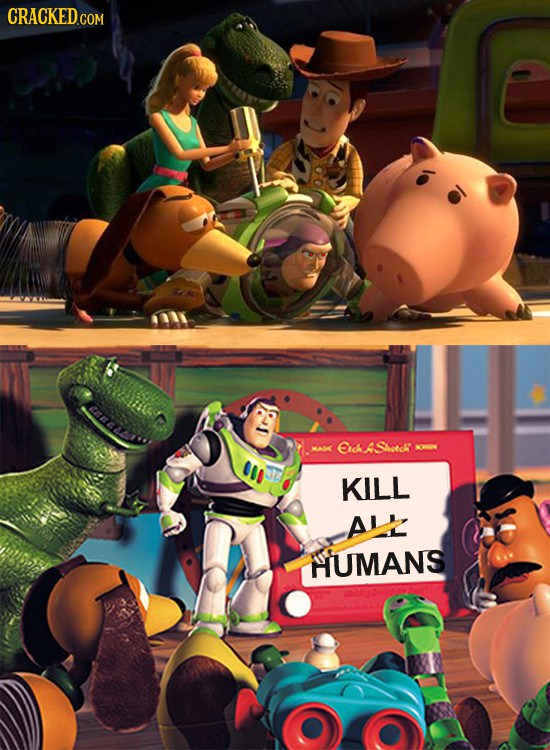 Buzz is turned into a murderous human-hater after having his setting adjusted