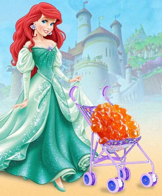 Ariel gives birth translucent amber eggs