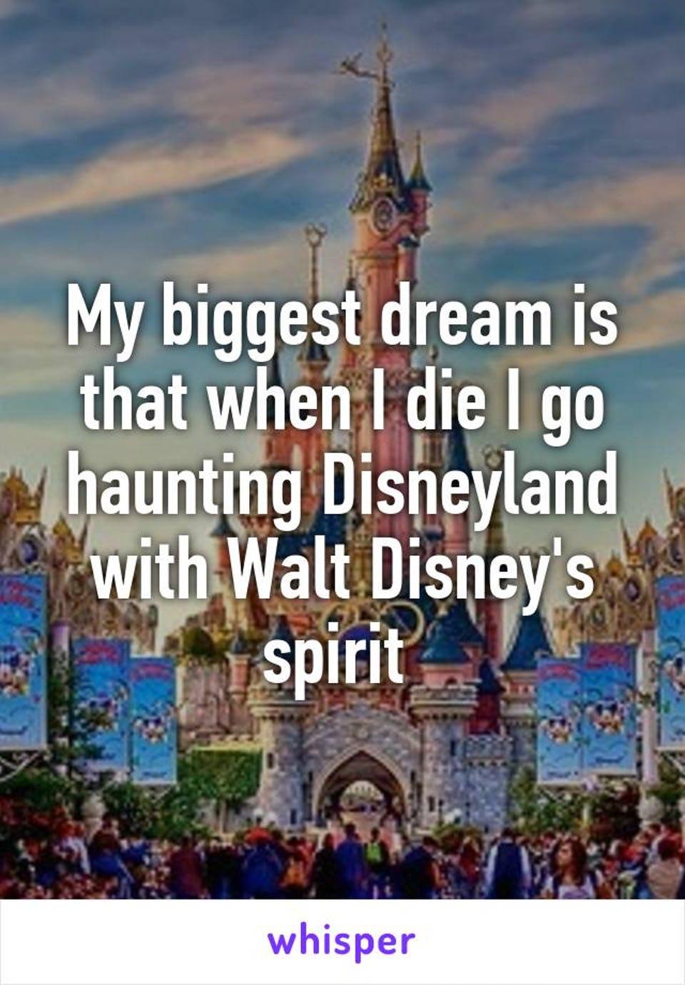 Many people still believethat Walt Disney haunts Disney land