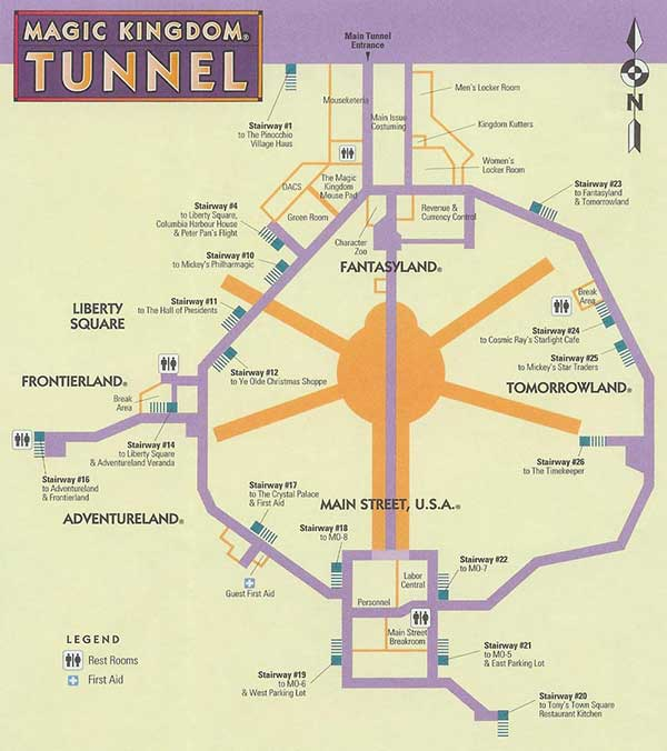 The tunnels are large enough for vehiclesto pass through
