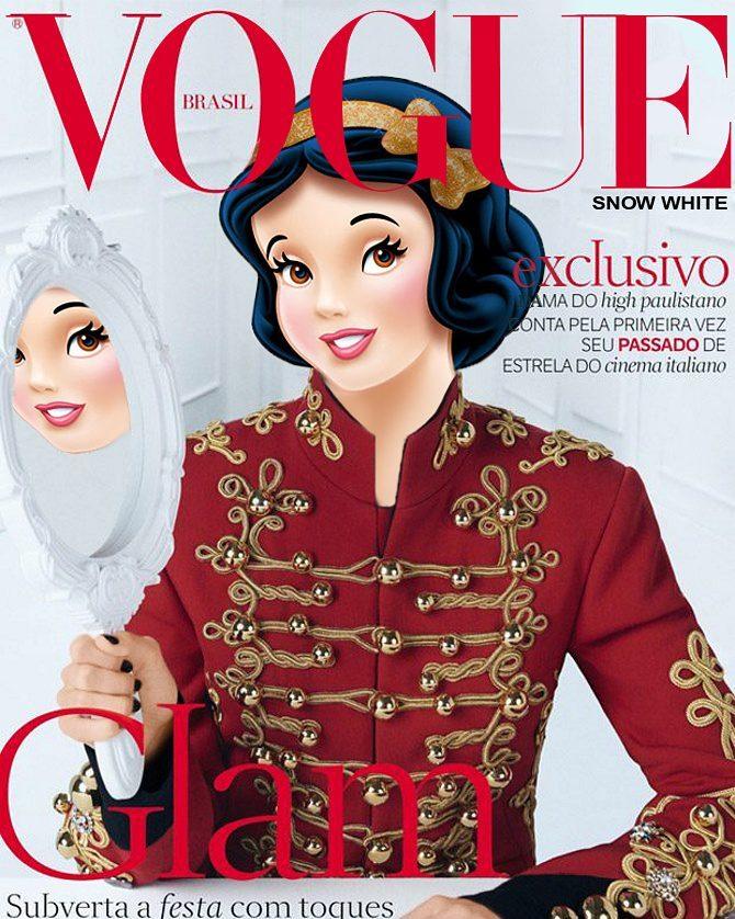 Snowwhite in red as Isabeli Fontana