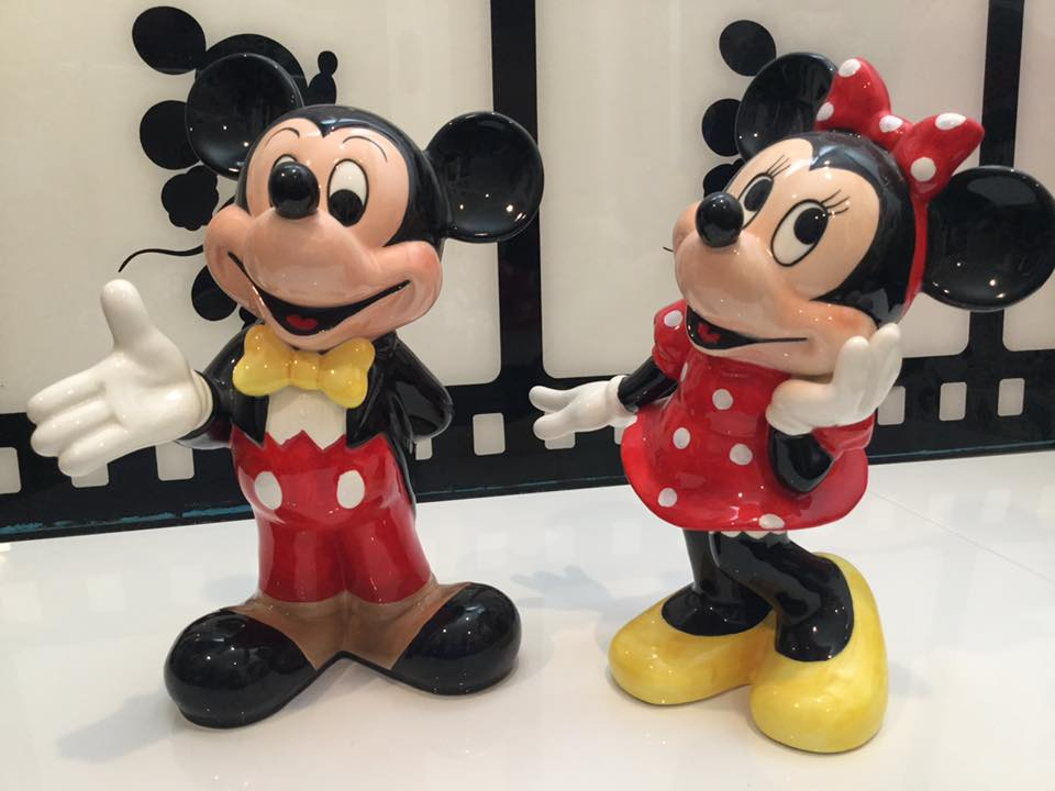 Mickey and Minnie Mouse Cookie Jars